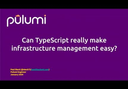 Can TypeScript Make Infrastructure Management Easy?