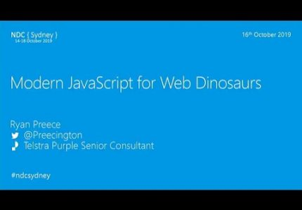 Modern JavaScript For Web Dinosaurs