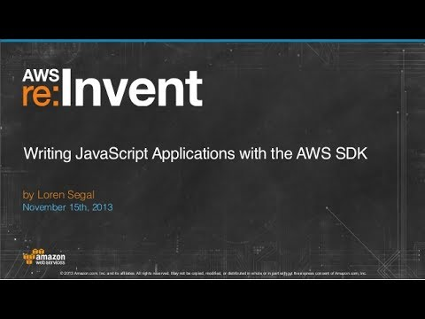 Writing JavaScript Applications with the AWS SDK